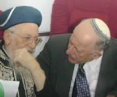 """יעקב בזק עם הרב מרדכי אליהו ז""""ל"""
