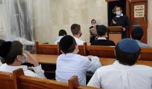 ההספד בישיבה התיכונית החרדית 'אורייתא' בירושלים