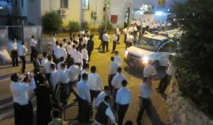 כוח משטרה בגבעת הישיבה, בשבוע שעבר