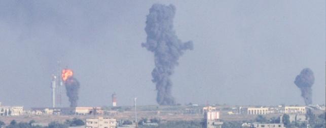 """בעזה שיגרו 3 פצמ""""רים כושלים לכיוון ישראל"""