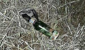 בקבוק תבערה שנתפס - פלסטינים תכננו ליידות אבנים ונלכדו על חם