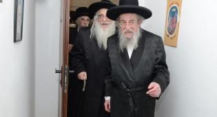 """הרב אורדנטליך זצ""""ל יחד עם הרבי מצאנז"""