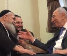 """נדיר: כשפרס ניסה לשכנע את מרן לוותר לפלסטינים; """"תן להם כבוד"""""""