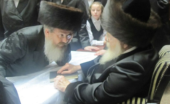 """רבי יעקב צבי ברגר עם הרבי מסאדיגורא זצ""""ל"""
