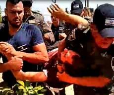 תיעוד: עימותים אלימים בפינוי תפוח מערב