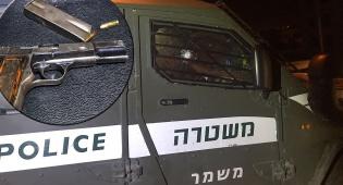 """הרכב הממוגן של הלוחמים - מרדף, ירי ודריסה: מחבל ירה לעבר לוחמי מג""""ב עד שנעצר"""