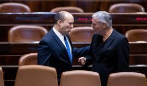 מאיר כהן במליאת הכנסת עם בנט