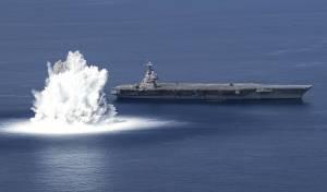 וואו! 'רעידת אדמה' בניסוי לנושאת המטוסים