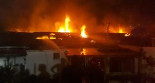 שלושה בתים נשרפו כליל  ב'קרית ענבים'