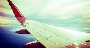 גם הפילטר לא יציל אתכם, כנף של מטוס בשקיעה? זה משעמם