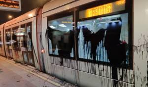 """בלשי הימ""""ר עצרו חשוד בהשחתת הרכבת"""