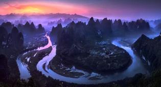 זריחה בסין. התמונה שזכתה במקום הראשון - מדהים: תמונות הפנורמה הכי טובות שצולמו ב-2017