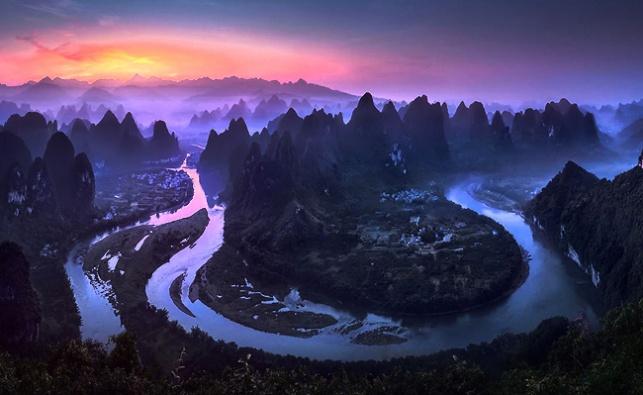 זריחה בסין. התמונה שזכתה במקום הראשון