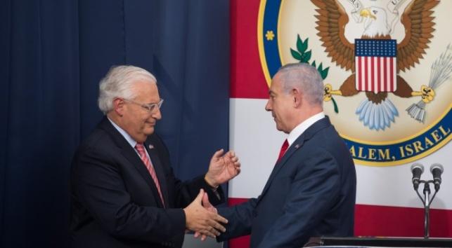 """סמכויות שגריר ארה""""ב דייויד פרידמן יורחבו"""