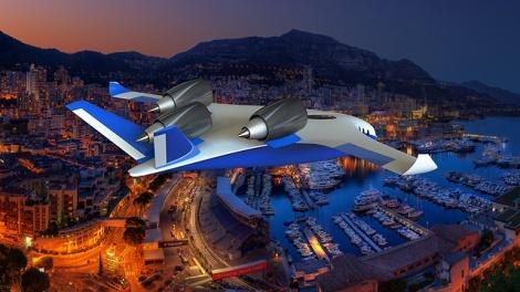 הדמיית המטוס - תשכחו ממסלולי המראה: המטוס שימריא וינחת כמו מסוק
