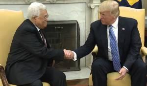 """טראמפ ואבו מאזן, היום - אבו מאזן וטראמפ נפגשו; """"הקב""""ה יעזור להגשמת השלום"""""""