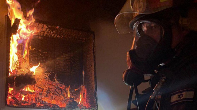 זירת השריפה