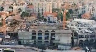 """הרחפן תיעד: בניית ביהמ""""ד של גור • צפו"""