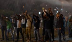 הפגנת האתיופים, אמש - עושים את 'העבודה השחורה'