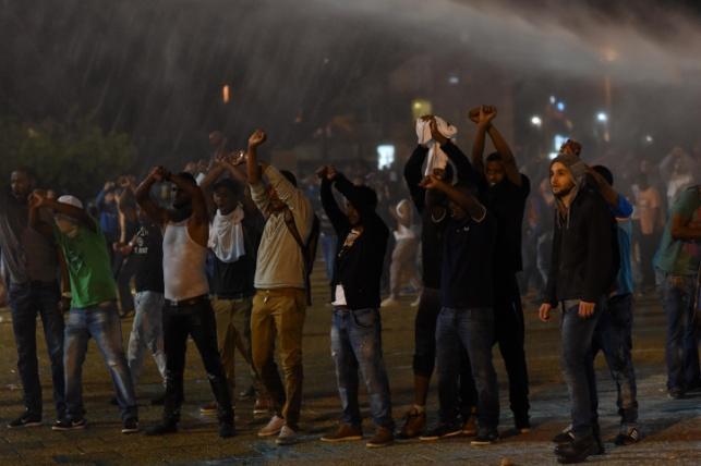 הפגנת האתיופים, אמש