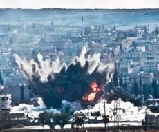 הפצצה של כוחות הברית בסוריה