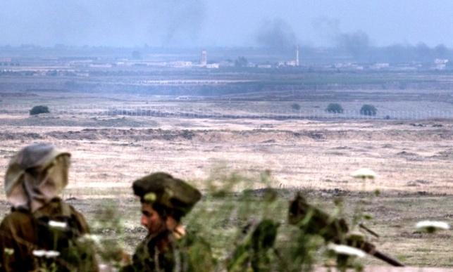 """חיילי צה""""ל בגבול סוריה, אמש"""
