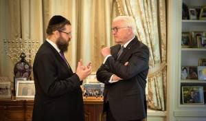 נשיא גרמניה ביקר בביתו של הרב שהותקף