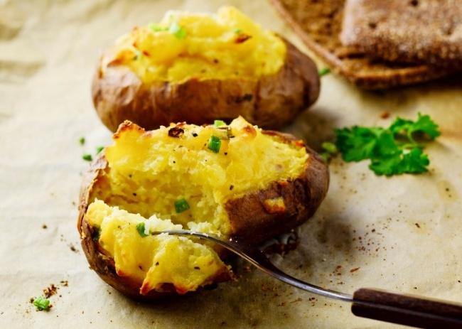 תפוחי אדמה ממולאים באפייה כפולה