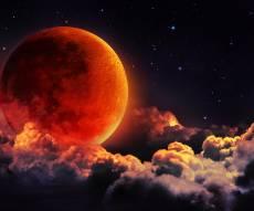 """אילוסטרציה - מחרתיים, לפנות בוקר: """"סופר-ירח, כחול, דם"""""""