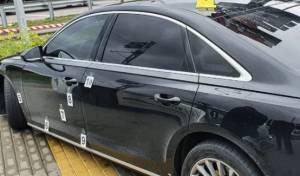 רכב היועץ לאחר הירי