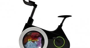 שילוב בין מכונת כביסה ואופני כושר