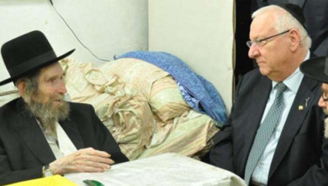 """יו""""ר הכנסת בפגישתו עם מרן הרב שטיינמן"""