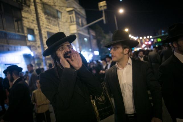 ההפגנה בירושלים נגד מעצר הבחור, אמש