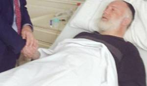 הרב דוידוביץ' בבית החולים