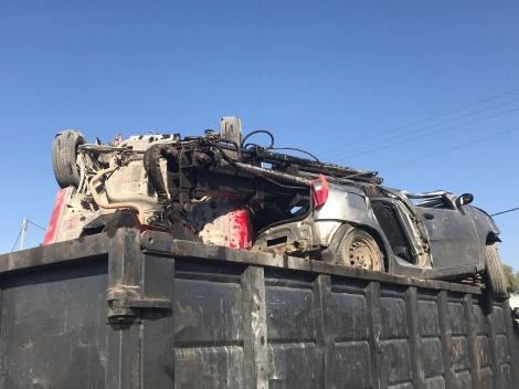 הרכבים שנתפסו - רכבי השטח המאולתרים נתפסו והועברו לגריטה