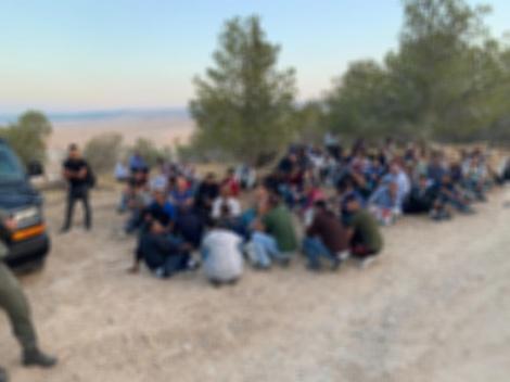 """102 שב""""חים נתפסו הבוקר בשטח ישראל"""