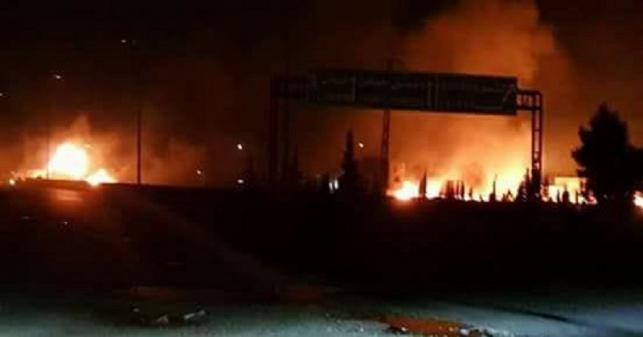 תיעוד אחת התקיפות הקודמות בסוריה