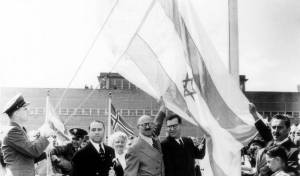 """טקס הכרזת האו""""ם על כינונה של מדינתישראל, בניו יורק, ארה""""ב בשנת 1947"""