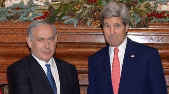 ראש הממשלה בנימין נתניהו ומזכיר המדינה האמריקני ג'ון קרי