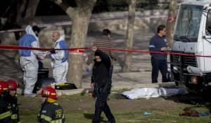 זירת הפיגוע - עשרות חיילים נמלטו מאימת המחבל