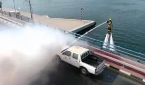 זרם סילון מהים: כך יכבו דליקות בדובאי . צפו
