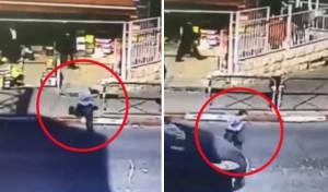 הילד התפרץ לכביש ונחבל בראשו מרכב חולף • צפו