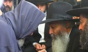 רבי דוד והבבא ברוך (צילום: מאיר אלפסי)