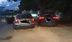 הרכבים הגנובים שנתפסו