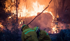 443 יישאר סגור: 'המושב של קרליבך' נשרף