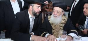 """הרב אליהו עמאר לצד אביו הראשל""""צ - הרב אליהו עמאר: 'השלום המיוחל, עם 'יחד''"""