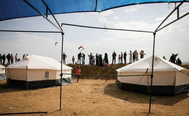 מחנה האוהלים בגבול רצועת עזה