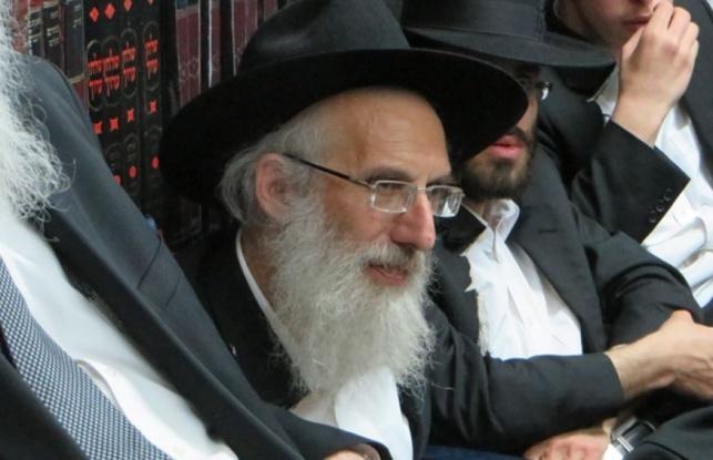 במרכז: הרב יעקב סטפנסקי