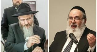 הרב ליכטשנטיין (מימין) והרב לאזאר