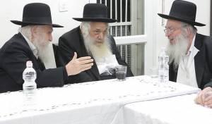 """הגרב""""ש דויטש (במרכז) בישיבת 'מועצת הפלג'"""